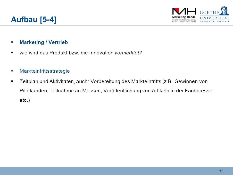 Aufbau [5-4] Marketing / Vertrieb
